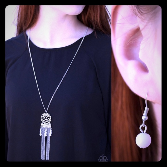 paparazzi Jewelry - Silver long necklace